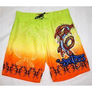 JNCO Jeans Dragon Graphic Board Shorts Swim Trunks